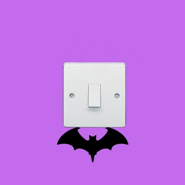 Gothic Vampire Bat Switch Sticker Personality Vinyl Wall Stickers