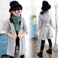 Girl fall in new north Korea wild loose knitting sweater sweater and part of children's clothing girl long coat baby clothes