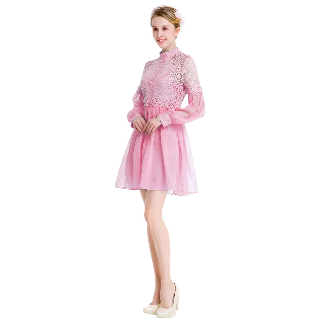 Bonito Vestidos De Novia De Encaje Con Mangas Casquillo Composición ...