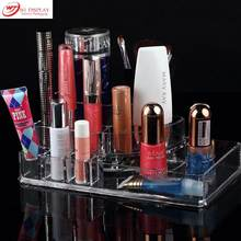 Professional Clear Acrylic Cosmetic Storage Display Lipstick Stand Rack Holder Jewelry Display Makeup Organizer Free Shipping(China)