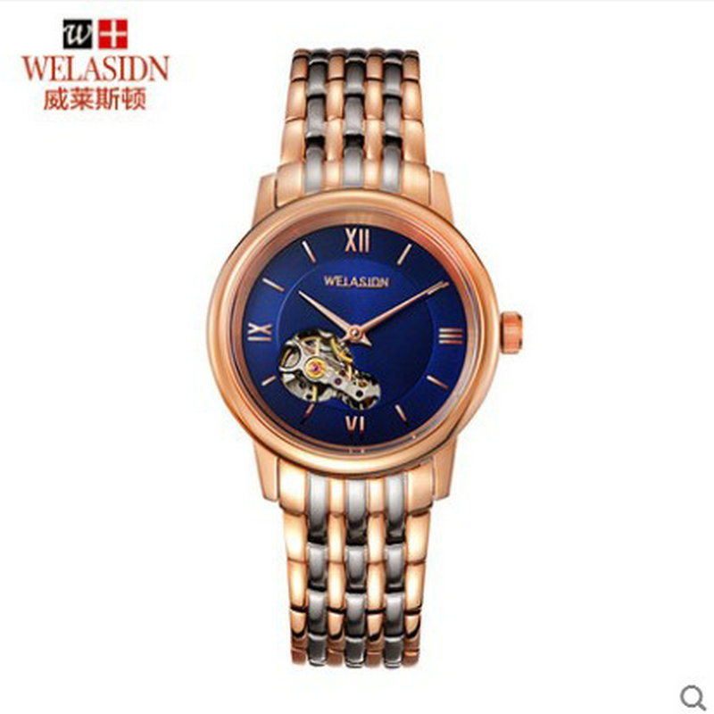 Recommend business casual men's Tourbillon automatic mechanical watch Stainless Steel Luxury Transparent Gifts Wristwatches