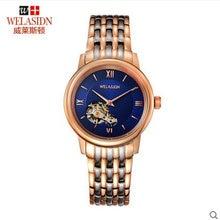 Recomendar business casual dos homens Tourbillon automatic relógio mecânico De Luxo Em Aço Inoxidável Presentes Relógios de Pulso Transparente