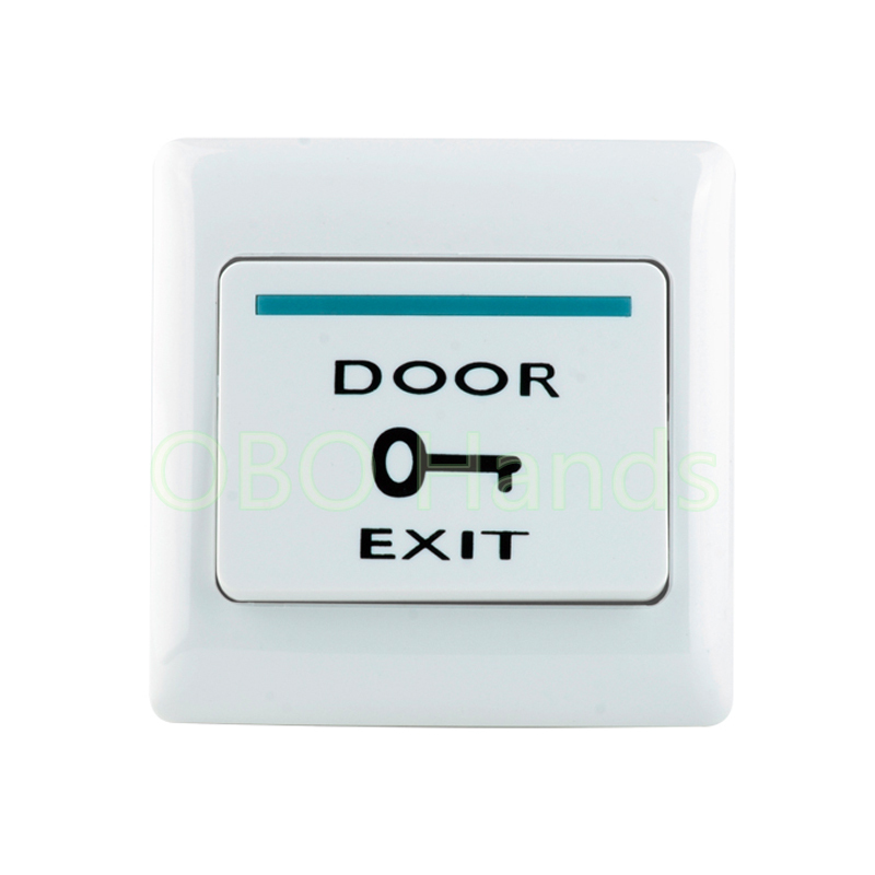 Plastic White Push Door Release Exit Button Switch for Door Access Control system E6 model Press to open the door Free Shipping