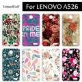 Para lenovo a526 case cáscara del teléfono de alta calidad de plástico de color para lenovo a526 funda capa suave tpu case cubierta para lenovo a526