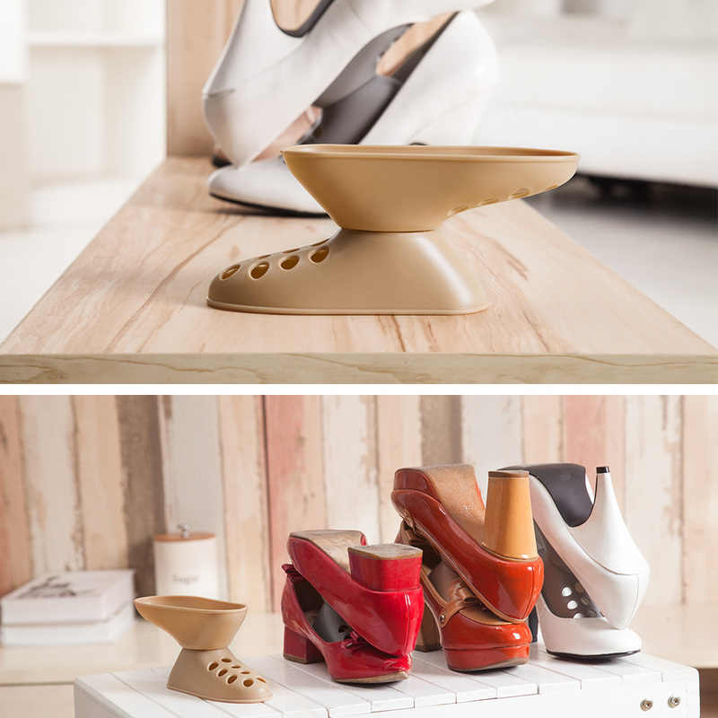 Modern Double Cleaning Shoe Storage Rack Household Shoes Organizers Rack Living Room Convenient Shoes Box High Heels Stand Shelf
