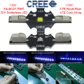 10pcs X Solderless Cree 1-5W LED XTE Royal Blue 450-460nm 1-5W LED Emitter CREE XPG Cold White 8000-8500K For Aquarium Grow lamp