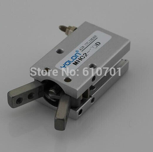 SMC type Pneumatic Y Gripper Double Acting MHC2-20D Air Finger For Automatiction high quality double acting pneumatic robot gripper air cylinder mhc2 25d smc type angular style aluminium clamps
