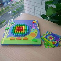 2017 New Arrive Mideer Children Mosaic Nail Mushrooms Nails Wooden Puzzle Cartoon Toy Desktop Toys