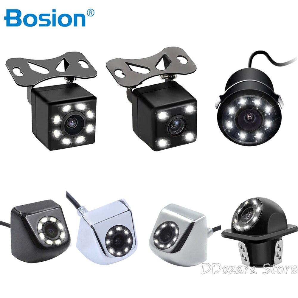 Bosion impermeable del coche cámara de visión trasera cámara de coches HD Escala de distancia de aparcamiento de la Cámara de reversa Universal