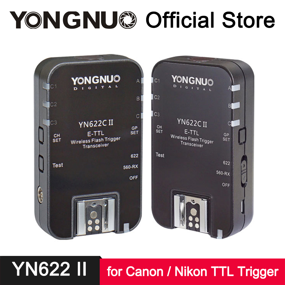 YongNuo YN622C II YN622N II ETTL i-TTL Wireless Flash Trigger Transmitter Receiver for Canon Nikon EX II Series Flash Speedlite аксессуар phottix strato ii receiver for canon 15656