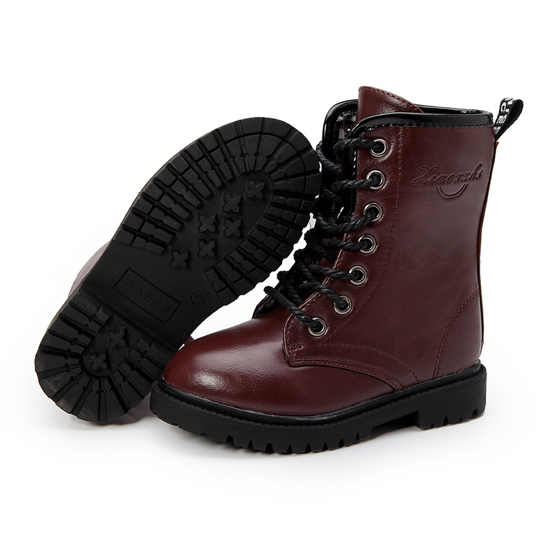 1bad43e6c825 Hot sale kids boots girls boots fashion pu leather Martin boots high  quality warm cotton winter boots kids shoes girls shoes-in Boots from  Mother   Kids on ...