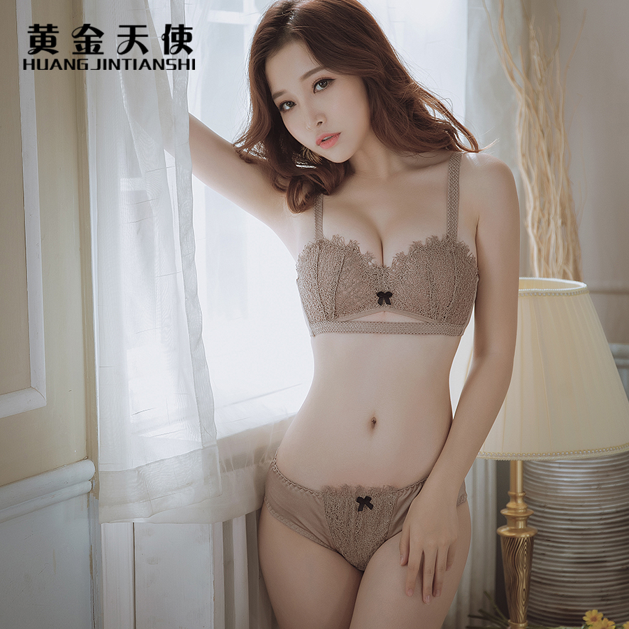 New Thin Section Sexy Lace   Bra     Set   3/4 Cup Wire Free Women Underwear   Set   Convertible Straps Hollow Embroidery   Bra     Brief     Sets