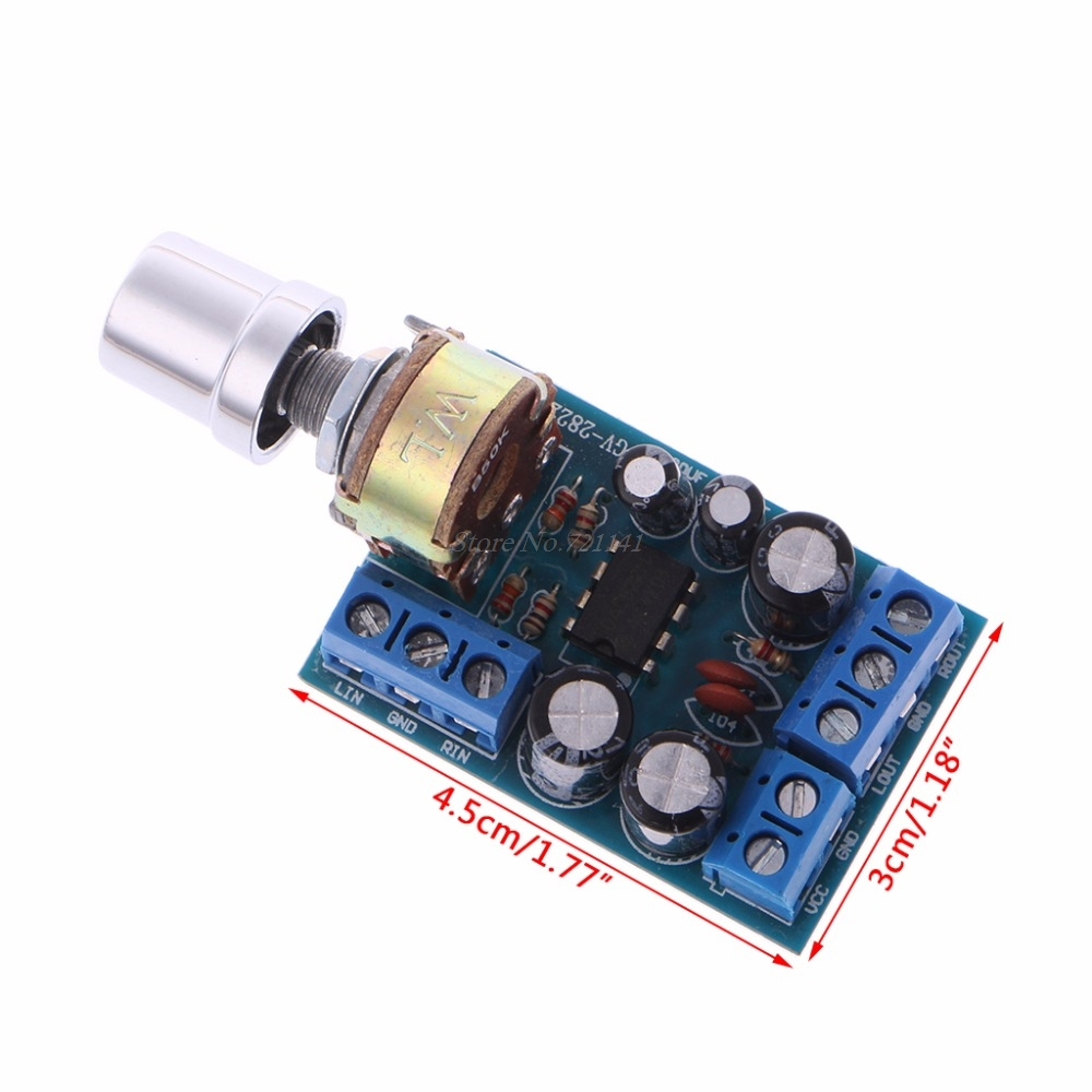Dc 18 12v Tda2822m 1wx2 20 Channel Stereo Audio Power Amplifier Tda2822 Circuit Board