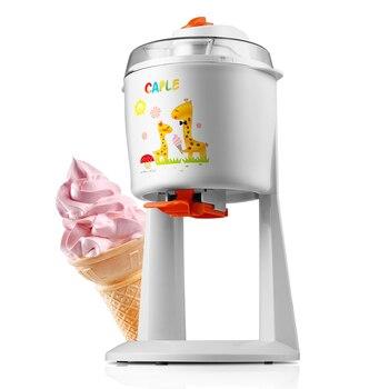 freeshipping AC220-240V 50-60HZ 18W POWER 1.2L CAPACITY Automatic Ice Cream Machine DIY Fruit Ice Cream Maker Ice Cream Sweet