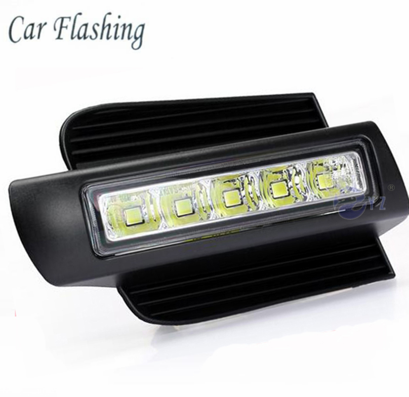 Car Flashing 1set for Toyota Prado 120 LC120 GRJ120 2003 2009 LED DRL Daytime Running Light