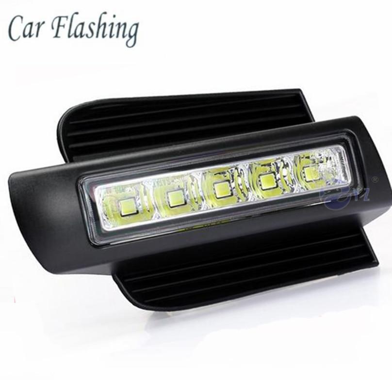 Car Flashing 1set for Toyota Prado 120 LC120 GRJ120 2003 2009 LED DRL Daytime Running Light