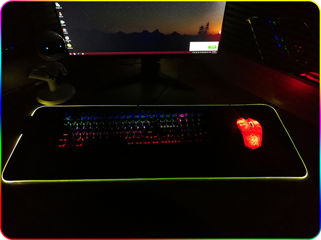 Image 4 - Large LED RGB Gaming Mouse Pad Overwatch xxl Desk Keyboard Mat USB Lighting Computer Mouse Pad World Map Gamer for LOL Dota-in Mouse Pads from Computer & Office