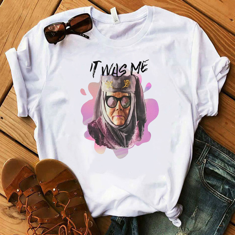 Women T Shirt Printed Tell Cersei It Was Me Game T Shirt Olenna Tyrell Shirt Pop Culture T Shirt in T Shirts from Women 39 s Clothing