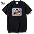 HanHent TV Test card Fashion T-shirt Men The Big Bang Theory Short Sleeve Cotton Tshirts Summer Style Skate Male T shirts TA0259