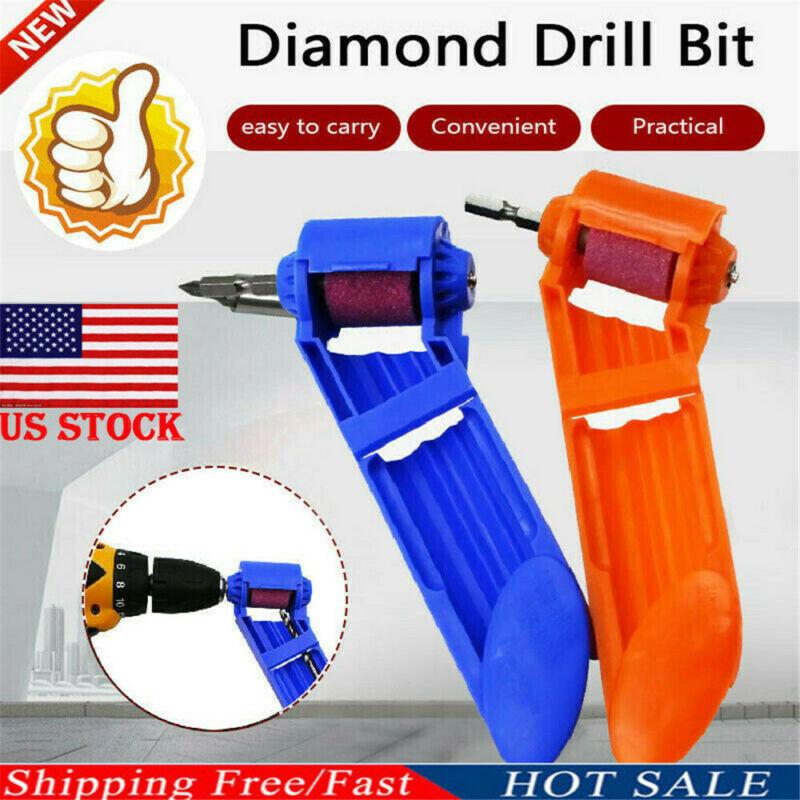 Diamond Drill Bit Corundum Grinding Wheel Drill Bit Sharpener Titanium Portable Powered Tool