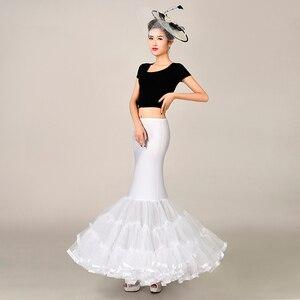 Image 2 - 탄성 패브릭 큰 fishtail 치마 인어 트럼펫 스타일 웨딩 드레스 페티코트 crinoline 슬립