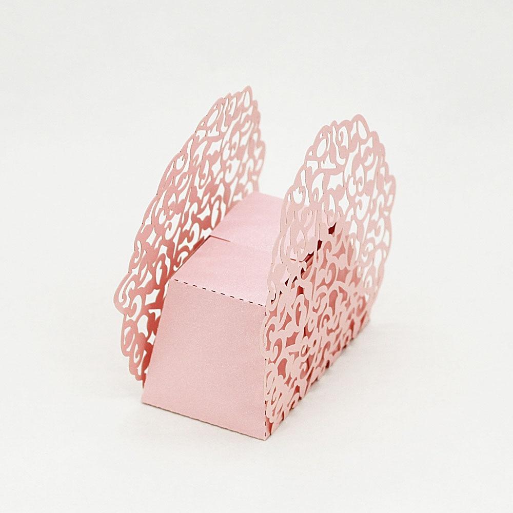 20pcs Romantic Laser Cut Wedding Candy Box Gift Box Pearl Paper ...