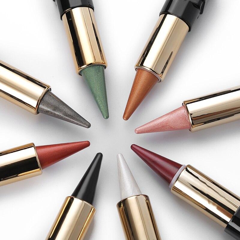 NICEFACE 20 Colors Metallic Shimmer Eyeshadow Stick Pen Makeup Set Waterproof Smoky Eye Shadow Creamy Red Nude Earth Pigment