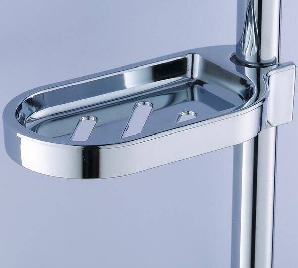 25mm Plastic Shower Soap Box Holder Pallet Rod Sliding Bar Soapbox Abs Chrome Bathroom