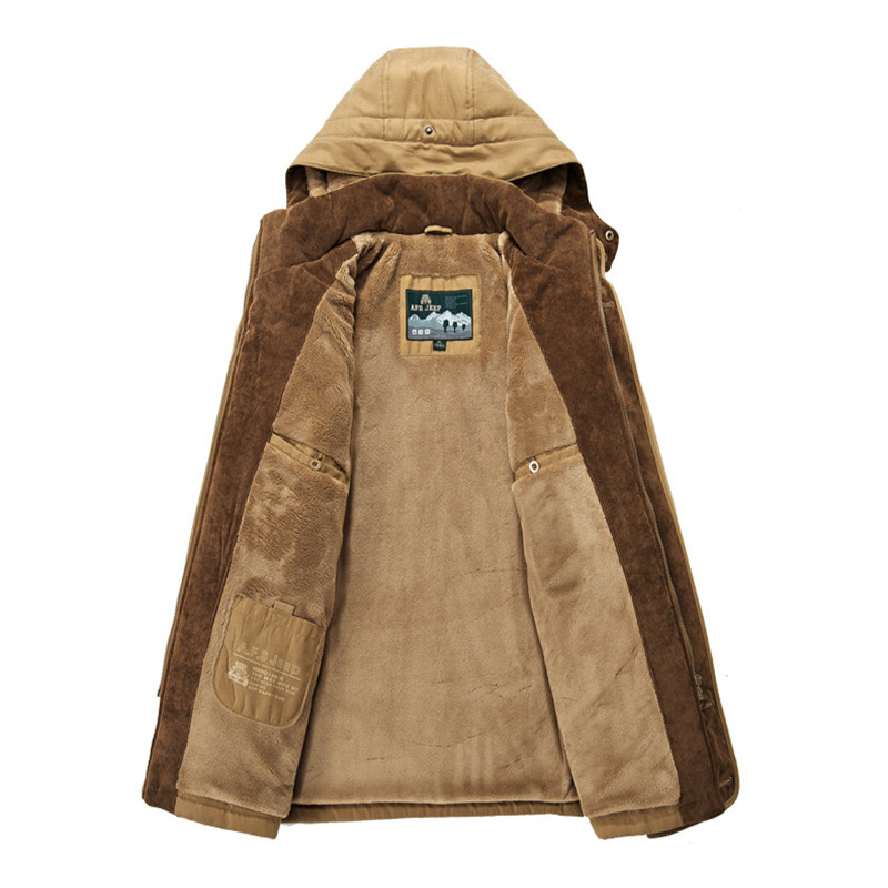 engrosamiento con Hombres invierno abrigo chaqueta capucha de xwFFXPa