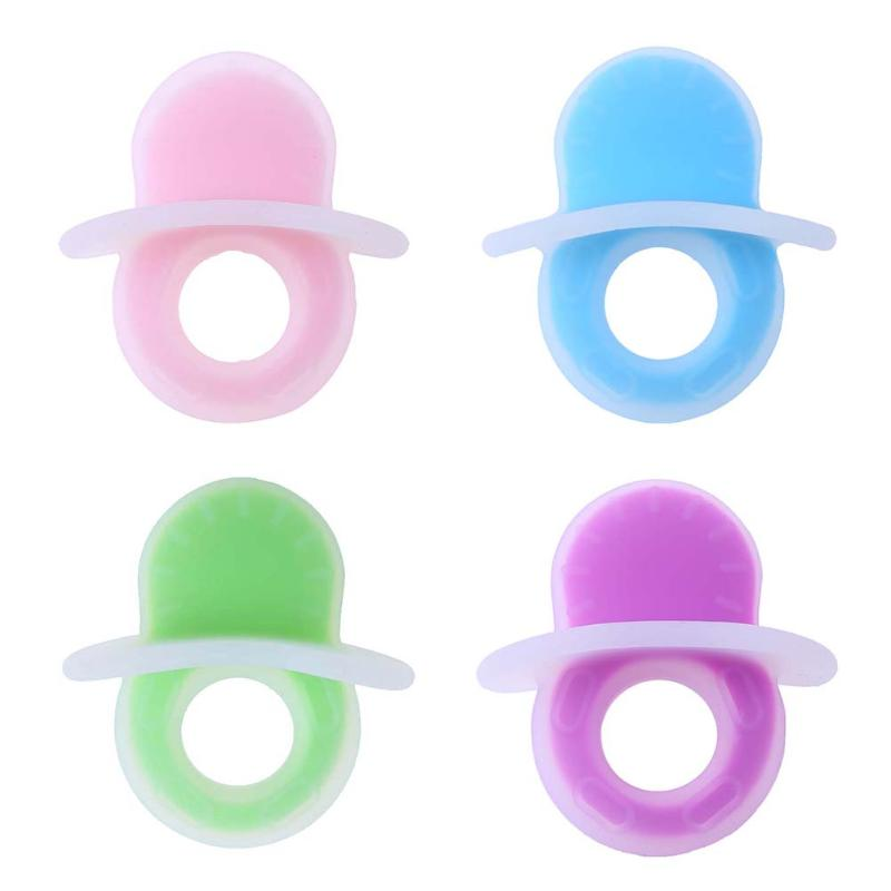 Baby Dental Care Silicone Ring Shape Baby Teether Strengthening Teething Training Chew Toys Infant Teether Soother Chain Pendant
