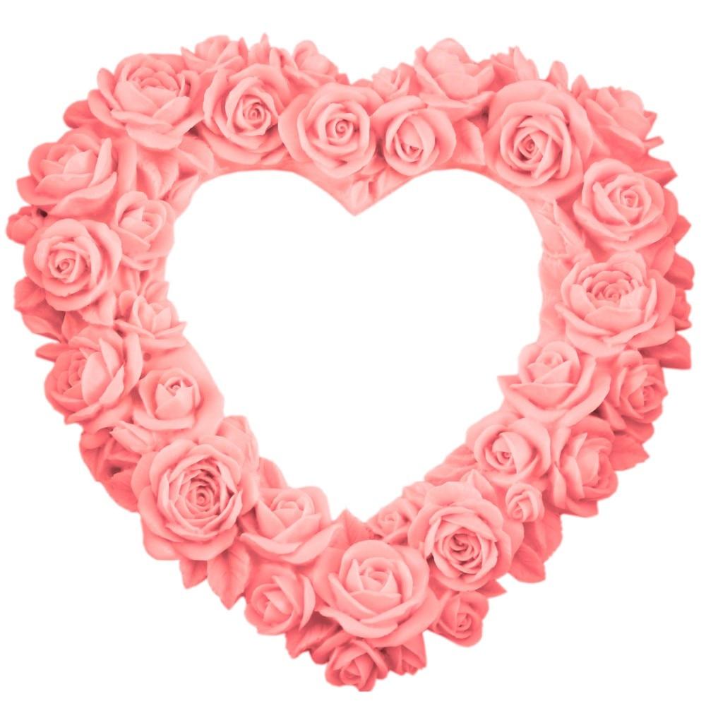 Ecológico de gran tamaño Corazón Rose Flower Molde de pastel de - Cocina, comedor y bar - foto 4