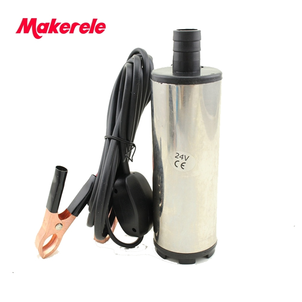 Free shipping DC 12V Submersible Diesel Fuel Water Oil Pump Car Camping Portable 30L Per Minute 51mm dc 12v water oil diesel fuel transfer pump submersible pump scar camping fishing submersible switch stainless steel