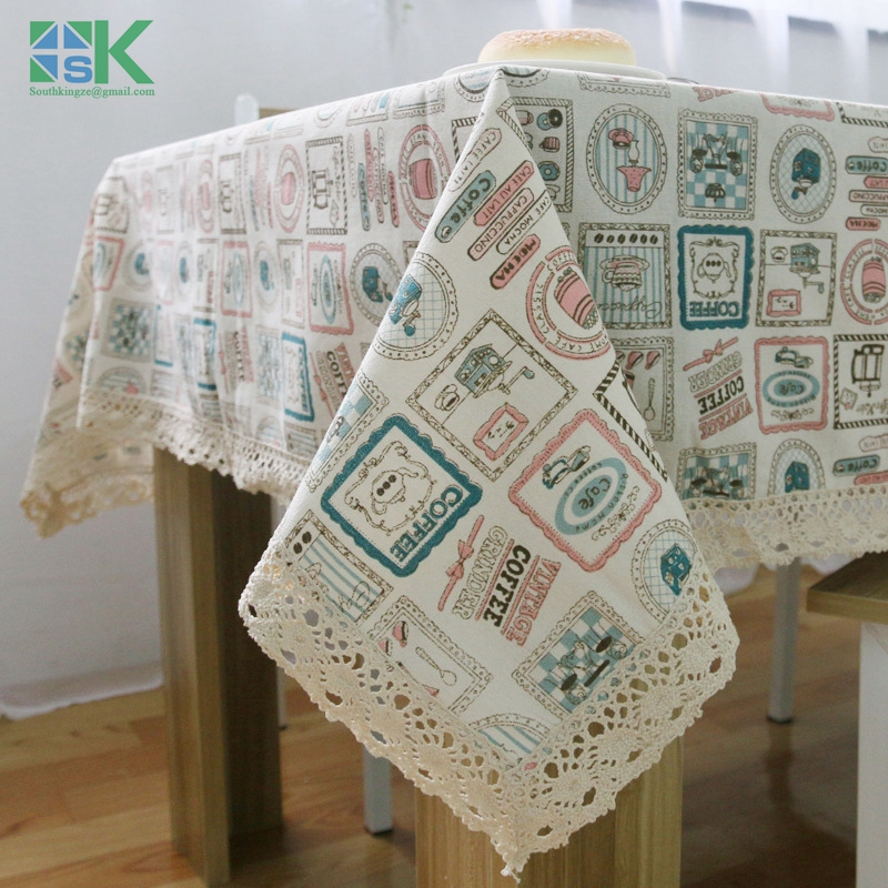 140*200cm Home Decors New Korean Small Cotton Tablecloths And Fresh Linen  Tablecloths Fabric Quality
