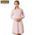 Mulheres Camisola Primavera Outono Pijamas Mangas Compridas de Algodão Listrado Camisola Salão Senhoras Nightshirt Pijamas para As Mulheres
