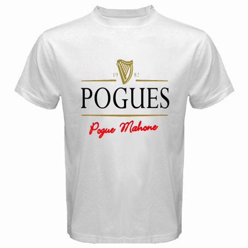 Design your own t shirt logo - Famous Brand Design Men T Shirt 100 Cotton Print Shirts The Pogues Unique Logo Punk Irish Rock Band Make My Own T Shirt
