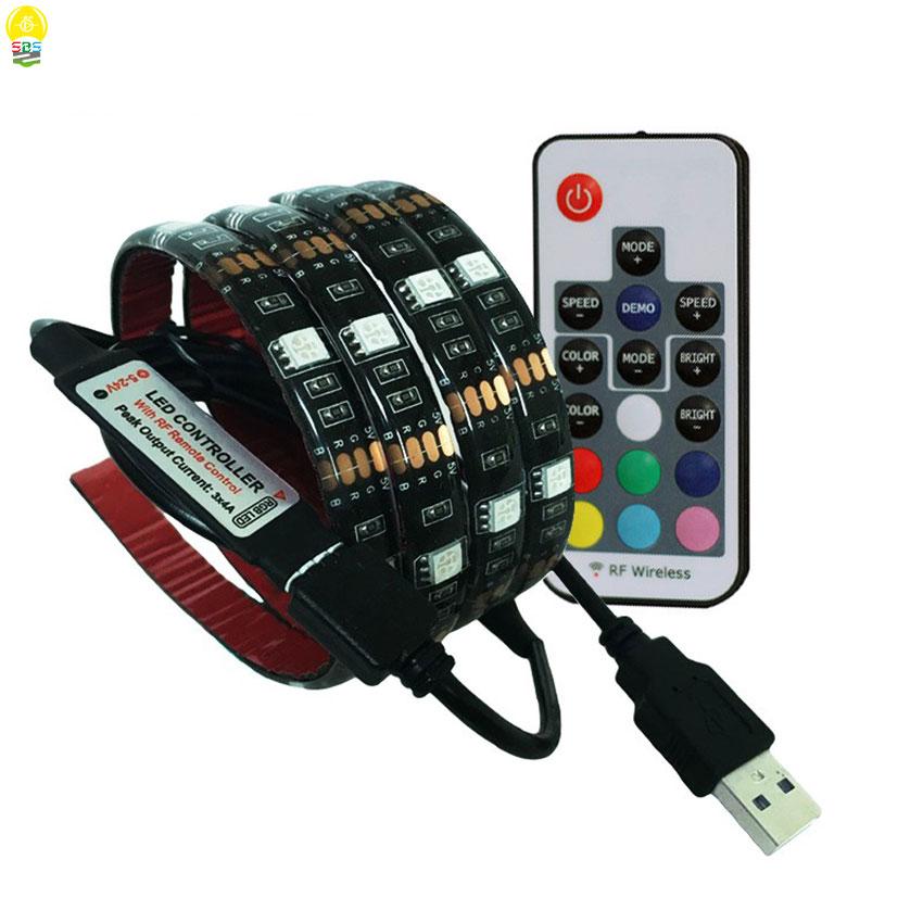 2pcs/lot IP20 IP65 Waterproof 5050 SMD DC5V USB LED Strip RGB Flexible Tape Light 1M 2M TV Background Lighting Strip Lamp