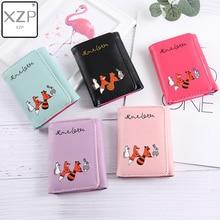 цены XZP Women Korean Cute Fox Wallet Small Zipper Girl Wallet Brand PU Leather Women Coin Purse Female Card Holder Wallet Billetera