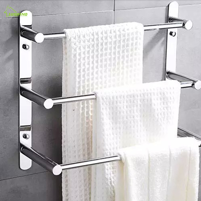 Modern Polished Chrome Towel Bars Bathroom Shelf Holder 304 Stainless Steel Ladder Accessories