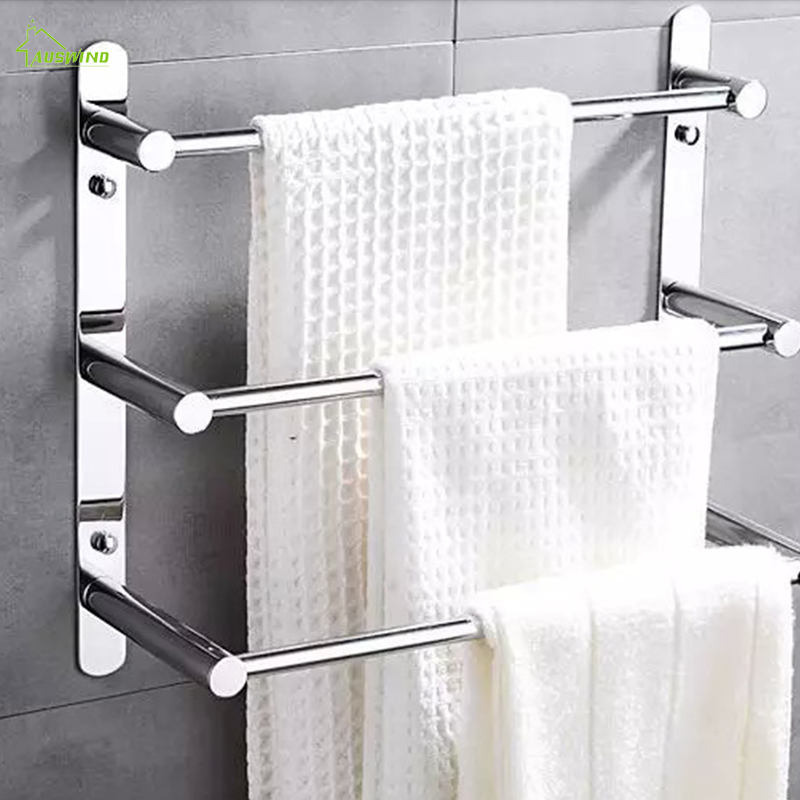 Modern Polished Chrome Towel Bars Bathroom Towel shelf holder 304 Stainless Steel Towel Ladder Bathroom Accessories Products
