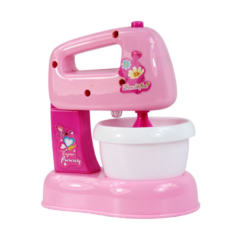 Children Kid Boy Girl Mini Kitchen Electrical Appliance Blender Toy Set Early Education Dummy Household Pretended Play House Gif
