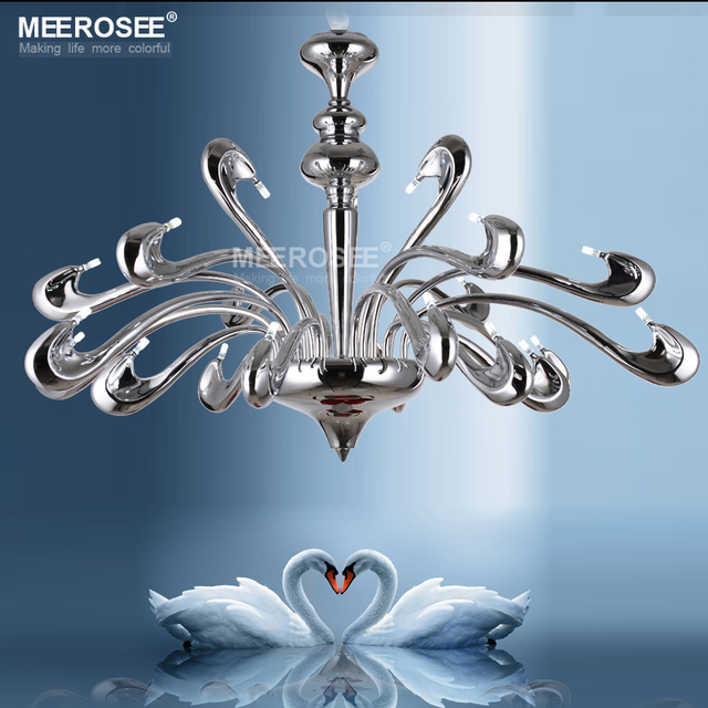 Modern Beautiful Swam Chandelier G4 Lampholder Hanging Light Fixture ...