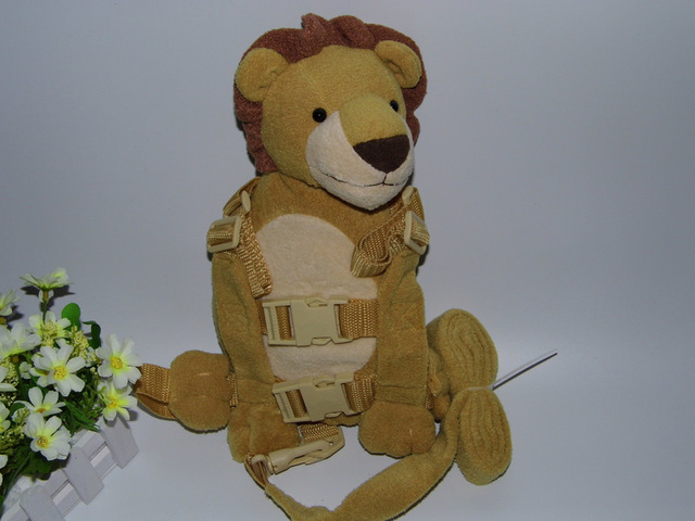 2 in 1 Harness Buddy Lion Babi Safety Animal Backpacks Bebe Walking Reins Toddler Leashes GB-013