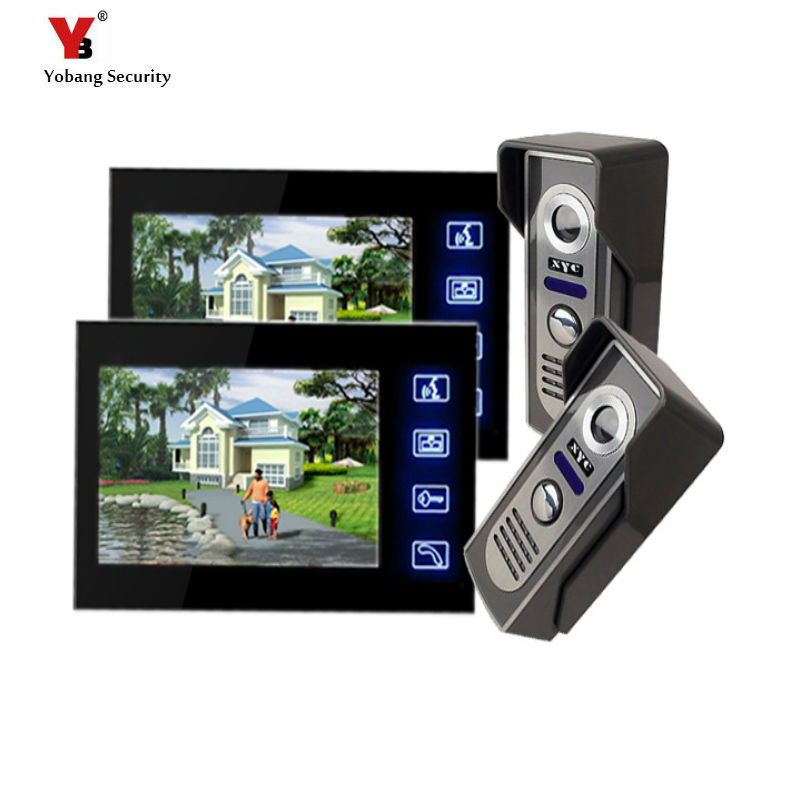 Yobang Security Freeship 7 inch  Doorphone System Touch Pad Monitor & Camera Doorbell phone Home Video intercom System IR camera yobang security video doorphone camera outdoor doorphone camera lcd monitor video door phone door intercom system doorbell