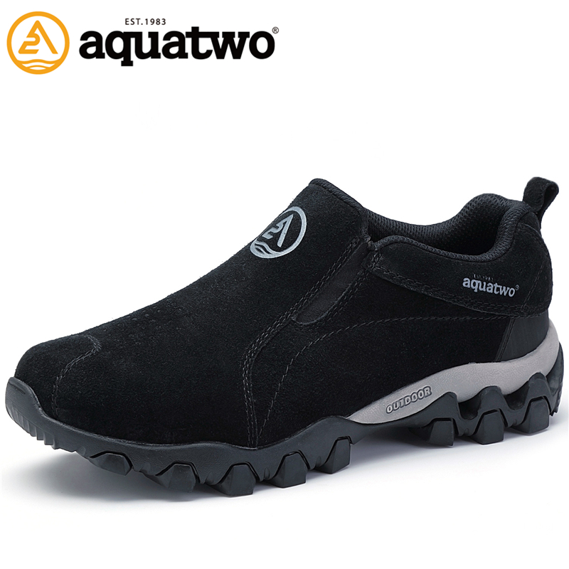 AQUA TWO Outdoor Camping Women Sports Hiking Shoes Genuine Leather Walking Sneakers Wear-Resistance Non-slip Shoes HDS-100957