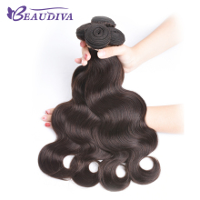 BEAUDIVA Pre-Colored Human Hair Weaving Colored Body Wave Bundles 2# Dark Brown Free Shipping