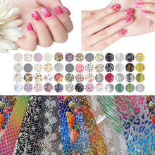 25 Pcs Mix Color Transfer Foil Nails Art Start Design Sticke