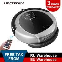 LIECTROUX Robot Vacuum Cleaner B6009,2D Map & Gyroscope Navigation,with Memory Virtual Blocker,UV Lamp,Water Tank HEAP filter
