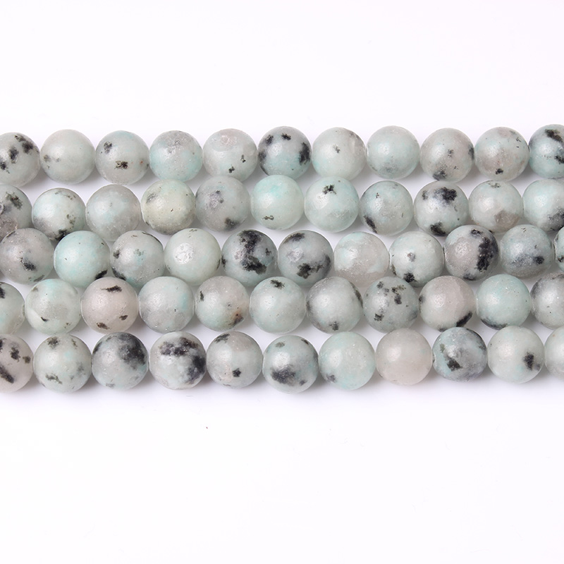 LIngXiang Natural jewelry 6 8 10 12mm Gray spectrolite loose beads DIY Men 39 s and women 39 s bracelets and necklaces accessories in Beads from Jewelry amp Accessories