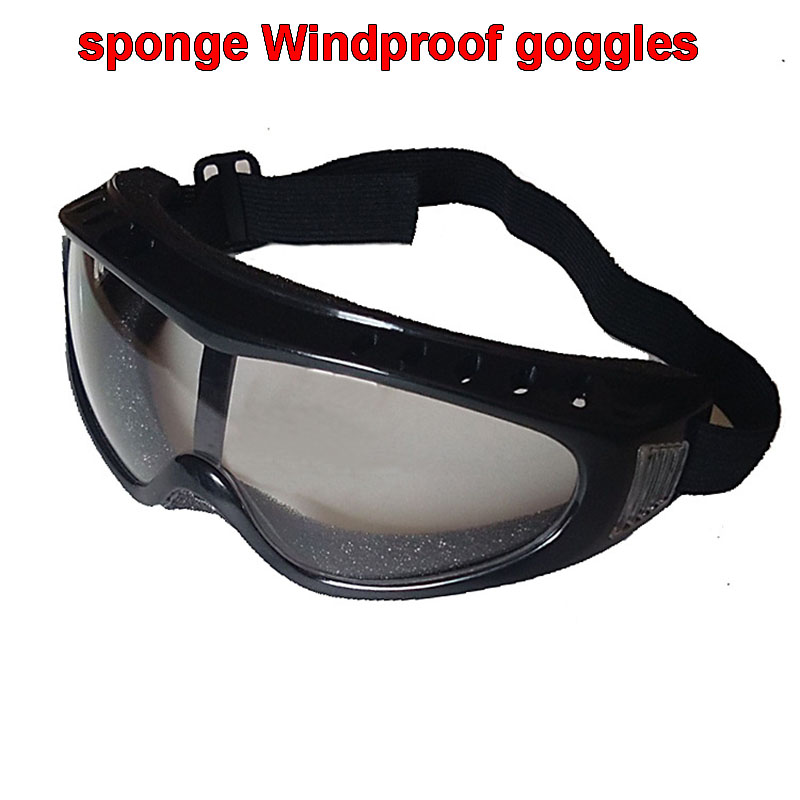 gray sponge Goggles fashion light Comfortable protection goggle Anti-shock Windproof Safety glasses light safety gray pc protective goggles outdoor windproof ride riding safety goggles shock resistant glasses eye protection