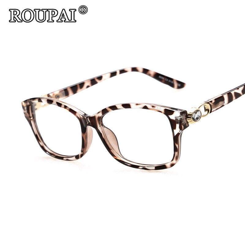 Roupai Brand Designer 2017 Luxury Rhinestones Women Glasses Frames